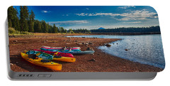 Kayaking On Howard Prairie Lake In Oregon Portable Battery Charger