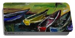 Kazinga Channel Boats Portable Battery Charger
