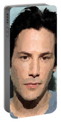 Keanu Reeves Portrait Portable Battery Charger