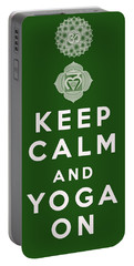 Keep Calm And Yoga On Portable Battery Charger