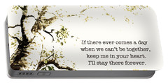 Portable Battery Charger featuring the digital art Keep Me In Your Heart by Nancy Ingersoll