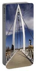 Keeper Of The Plains Bridge View Portable Battery Charger