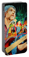 Portable Battery Charger featuring the painting Keith Moseley At Horning's Hideout by Joshua Morton