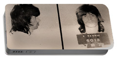 Keith Richards Mugshot - Keith Don't Go Portable Battery Charger