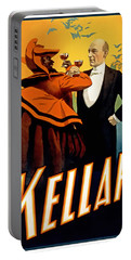 Kellar Toasts The Devil Portable Battery Charger by Terry Reynoldson