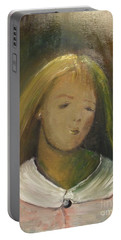 Portable Battery Charger featuring the painting Kelly by Laurie L