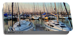 Kemah Boardwalk Marina Portable Battery Charger by Savannah Gibbs