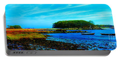 Portable Battery Charger featuring the photograph Kennepunkport Vaughn Island  by Tom Jelen