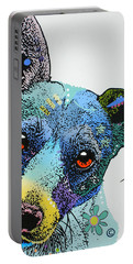 Portable Battery Charger featuring the painting Jack by Luis Ludzska