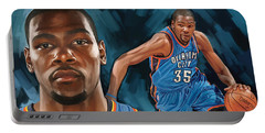 Kevin Durant Artwork Portable Battery Charger