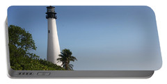 Key Biscayne Lighthouse Portable Battery Charger by Christiane Schulze Art And Photography