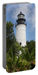 Portable Battery Charger featuring the photograph Key West Lighthouse  by Christiane Schulze Art And Photography