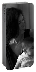 Kiara And Her Ami Portable Battery Charger by Joe Schofield