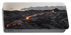 Kilauea Volcano 60 Foot Lava Flow - The Big Island Hawaii Portable Battery Charger