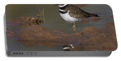 Portable Battery Charger featuring the photograph Killdeer Reflection by Bryan Keil