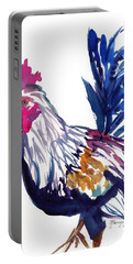 Portable Battery Charger featuring the painting Kilohana Rooster by Marionette Taboniar