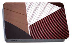 Kimmel Center Geometry Portable Battery Charger by Rona Black