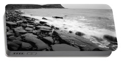 Kimmeridge Bay In Black And White Portable Battery Charger
