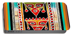 Portable Battery Charger featuring the digital art King And Queen by Vagabond Folk Art - Virginia Vivier