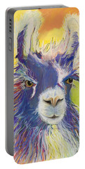 King Charles Portable Battery Charger by Pat Saunders-White