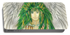 King Crai'riain Portrait Portable Battery Charger by Shawn Dall