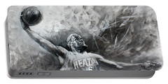 King James Lebron Portable Battery Charger by Ylli Haruni