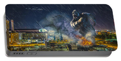 Portable Battery Charger featuring the photograph King Kong By Ford Field by Nicholas  Grunas