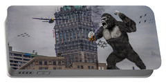 Portable Battery Charger featuring the photograph King Kong In Detroit At Wurlitzer by Nicholas  Grunas