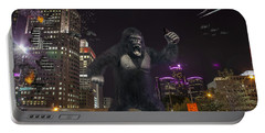 Portable Battery Charger featuring the photograph King Kong On Jefferson St In Detroit by Nicholas  Grunas