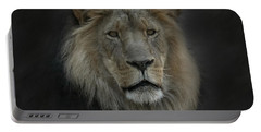 King Of Beasts Portrait Portable Battery Charger
