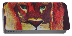 Lion In Orange Portable Battery Charger