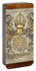 Kingdom Of Jerusalem Medieval Coat Of Arms  Portable Battery Charger