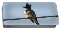 Kingfisher Profile Portable Battery Charger by Mike Dawson