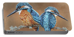 Kingfishers Portable Battery Charger by Jane Girardot
