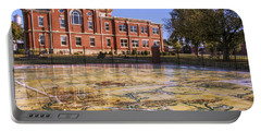 Kiowa County Courthouse With Mural - Hobart - Oklahoma Portable Battery Charger by Jason Politte