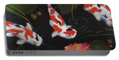 Kippycash Koi Portable Battery Charger by Judith Rhue