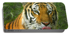 Portable Battery Charger featuring the photograph Kisa Painted by Sandi OReilly
