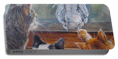 Portable Battery Charger featuring the painting Kiss My Assssssss by Donna Tucker