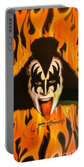 Portable Battery Charger featuring the photograph Kiss The Demon by Gary Keesler