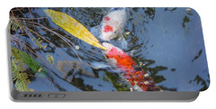 Kissin' Koi Portable Battery Charger by HEVi FineArt