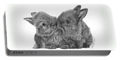 Kissing Bunnies - 035 Portable Battery Charger