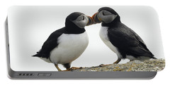 Kissing Puffins Portable Battery Charger