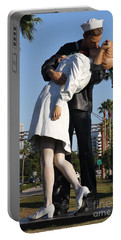Kissing Sailor - The Kiss - Sarasota Portable Battery Charger by Christiane Schulze Art And Photography