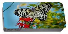 Portable Battery Charger featuring the photograph Kite Butterfly by Peggy Franz