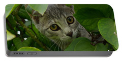 Kitten In The Bushes Portable Battery Charger