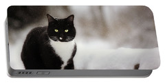 Kitty Snow Play Portable Battery Charger