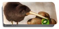 Kiwi Bird And Kiwifruit Portable Battery Charger