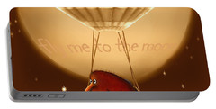 Kiwi Bird Kev - Fly Me To The Moon - Sepia Portable Battery Charger