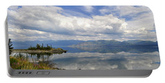 Portable Battery Charger featuring the photograph Kluane Reflections by Cathy Mahnke