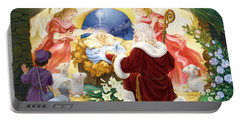 Kneeling Santa Nativity Portable Battery Charger